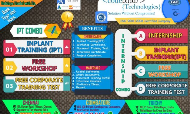 Which company provides best inplant training in coimbatore?