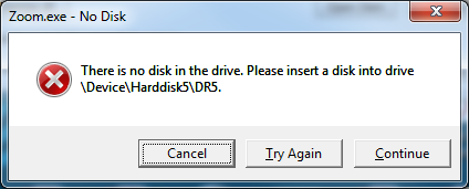 Fix 'No Disk in Drive, Please Insert a Disk into Drive' Error
