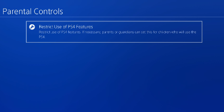Restrict use of ps4 features